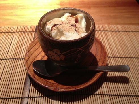 広島 児玉 ミシュランの店 デザート バニラアイス