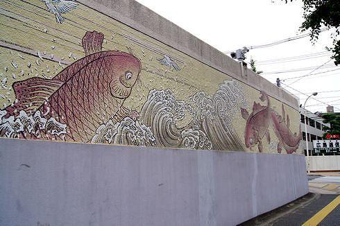 広島拘置所の壁画アート2