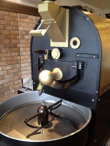 アースベリーコーヒーの焙煎機