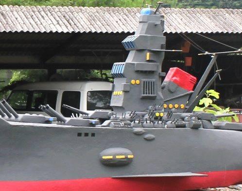 手作りの戦艦ヤマト
