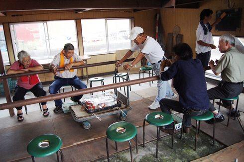 佐伯錦鯉市場 セリ場の画像