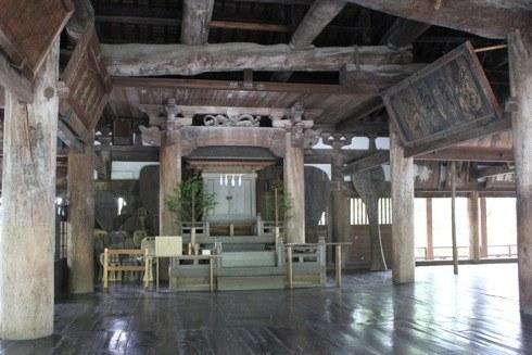 宮島 千畳閣(豊国神社) の中の神様