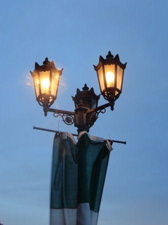 グランヴィア広島 屋上ビアガーデンの照明