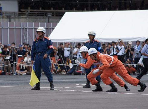 全国消防救助技術大会 広島 ほふく救出1