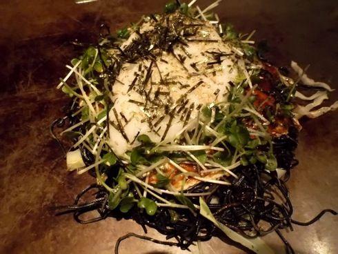 川創 炭麺のお好み焼き