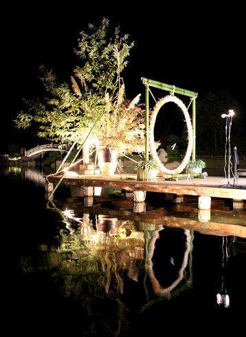三景園のお月見ステージ