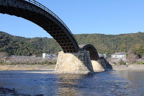 錦帯橋 橋の全景