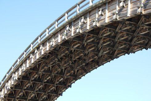 錦帯橋 橋の裏側1