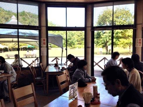 マロンの里交流館 レストランからの景色