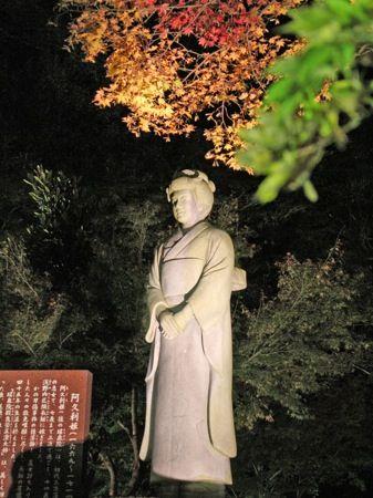 尾関山公園の 紅葉ライトアップ 画像5