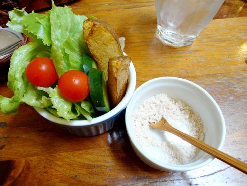 ゆーゆー 藻塩で食べるサラダ