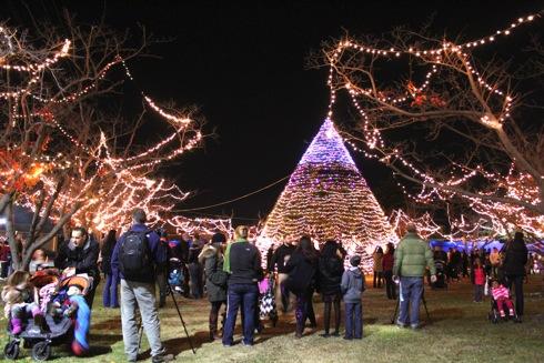 米軍岩国基地 クリスマスツリー 画像1