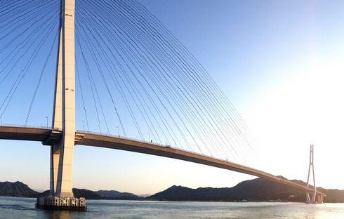 多々羅大橋 生口島からの眺め