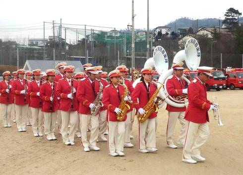 広島市消防音楽隊による演奏