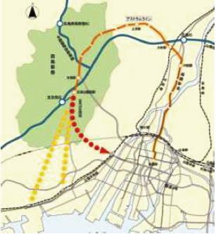 アストラムライン 3路線検討図