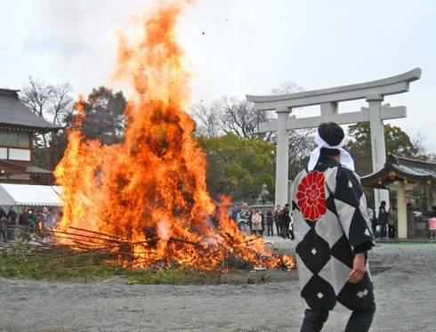 広島県 とんど祭 2016!古いお守りや正月飾りを お焚き上げ