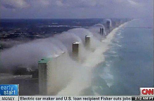 フロリダのパナマシティに現れた雲津波