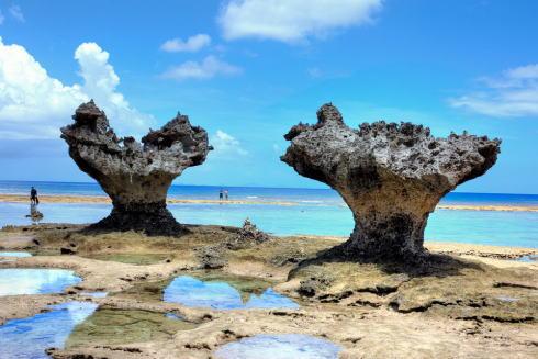 ハートロック、沖縄 古宇利島の名物に嵐が出会った!CM・地図情報