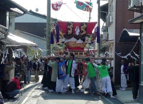 三原 ふとんだんじり(能地春祭り) の様子2