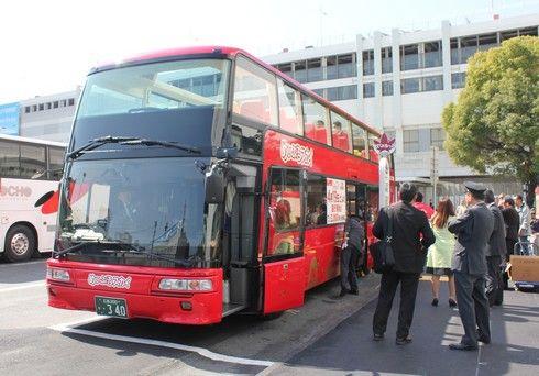 めいぷるスカイ、広島初上陸の2階建てオープン観光バスに乗ってきた