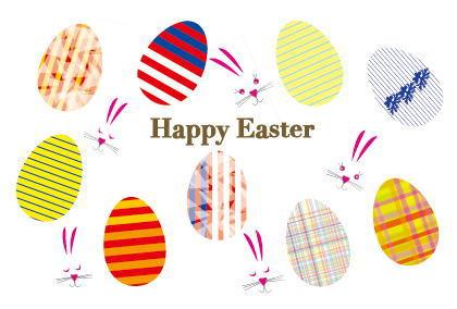 2014年のイースター、4月20日に卵やウサギでお祝い!