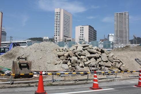 工事が続く 広島駅前開発 現在の様子