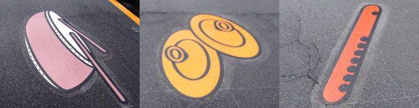 広島県 メロディーロードの道路デザイン