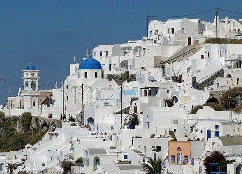 ギリシャ サントリーニ島はまっ白な世界