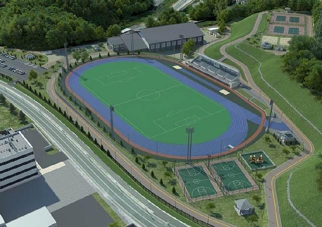 陸上競技場とサッカー場