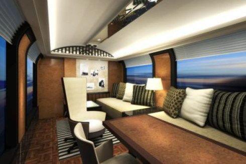 JR西日本 豪華寝台列車のリビング
