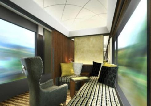 視界の広い客室 豪華寝台列車