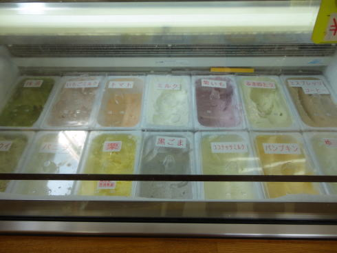 グリーンフィールド西城 アイスの種類