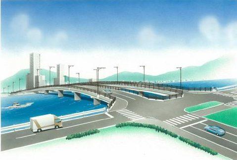 新八幡橋から廿日市大橋東詰め交差点までの工事が開始、4車線化へ