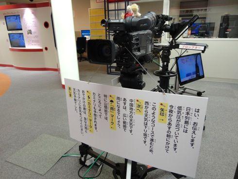 NHK広島放送局 ハートプラザ お天気キャスター体験コーナー