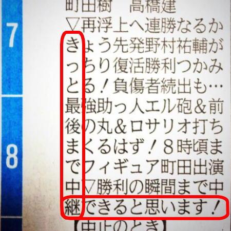 ラテ欄L字読み