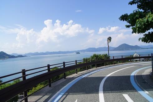 大三島をレンタサイクル