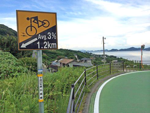 しまなみ海道 自転車専用道路も