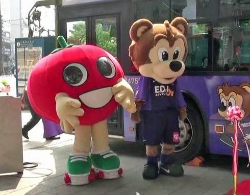 トマトン、横川商店街のキャラクターは広報部長として活躍中