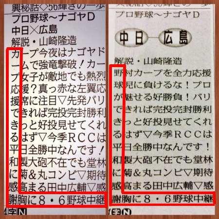 8月6日 中国新聞ラテ欄 画像2