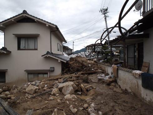 広島土砂災害 現場の写真4