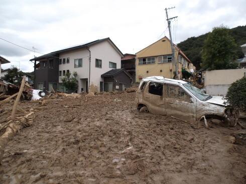 広島土砂災害 現場の写真5