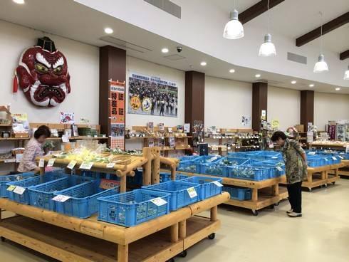 道の駅千代田の店内の様子