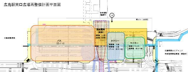 広島駅南口 配置イメージ