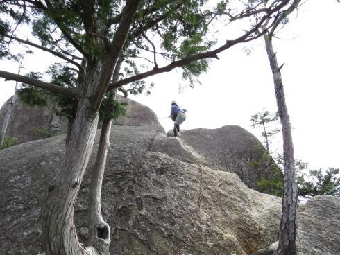 三倉岳 登山 中岳頂上付近の様子2