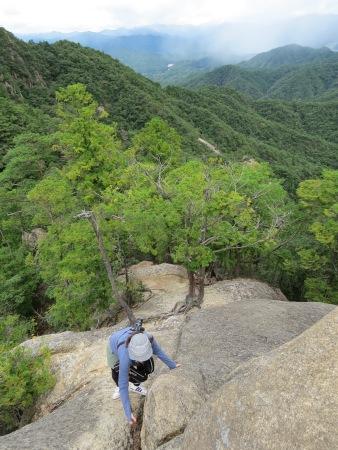 三倉岳 登山の様子 夕陽岳に向かう