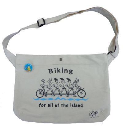 因島 サイクリング侍 サコッシュ型キャンバスバッグ