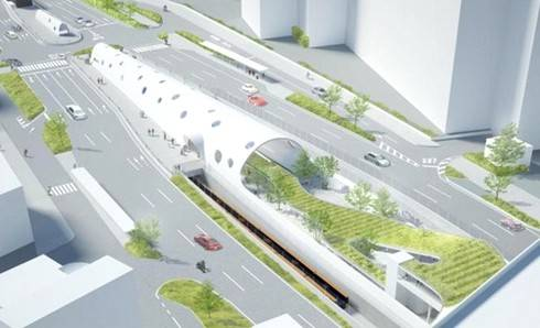 アストラムライン白島駅の完成図