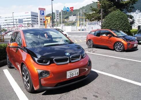 BMWi ガソリン給油口も