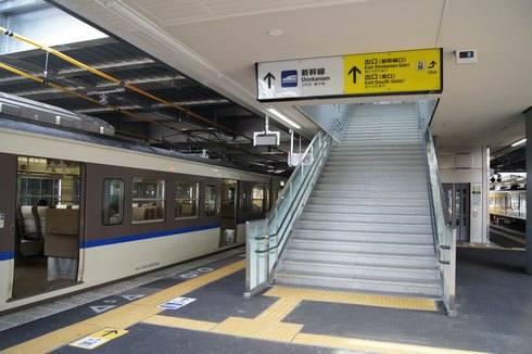 広島駅 ホームからの景色