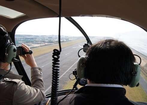 広島ヘリポート 遊覧飛行、飛行開始!